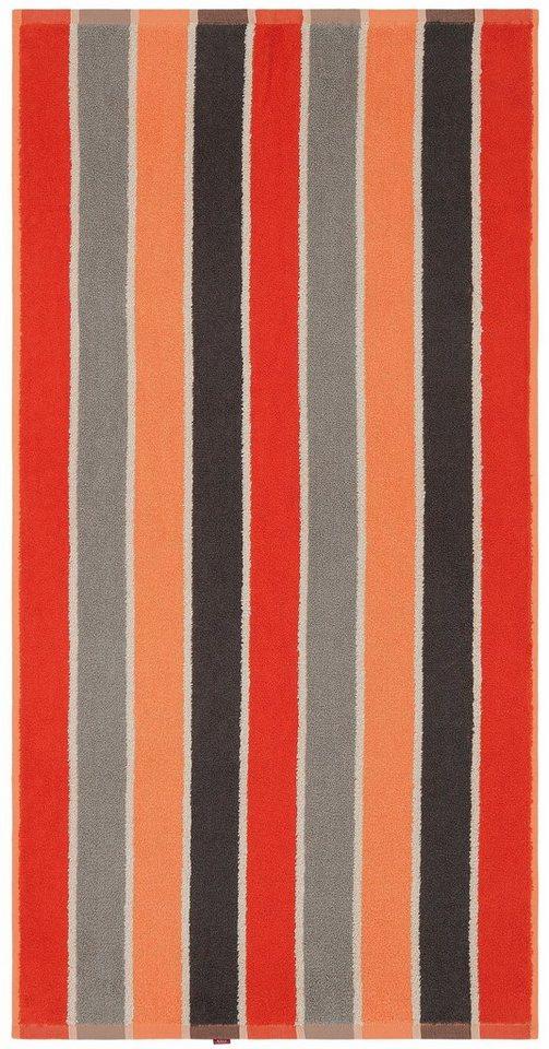 Handtücher, my home, »Howard«, mit mehrfarbigen Streifen in rot