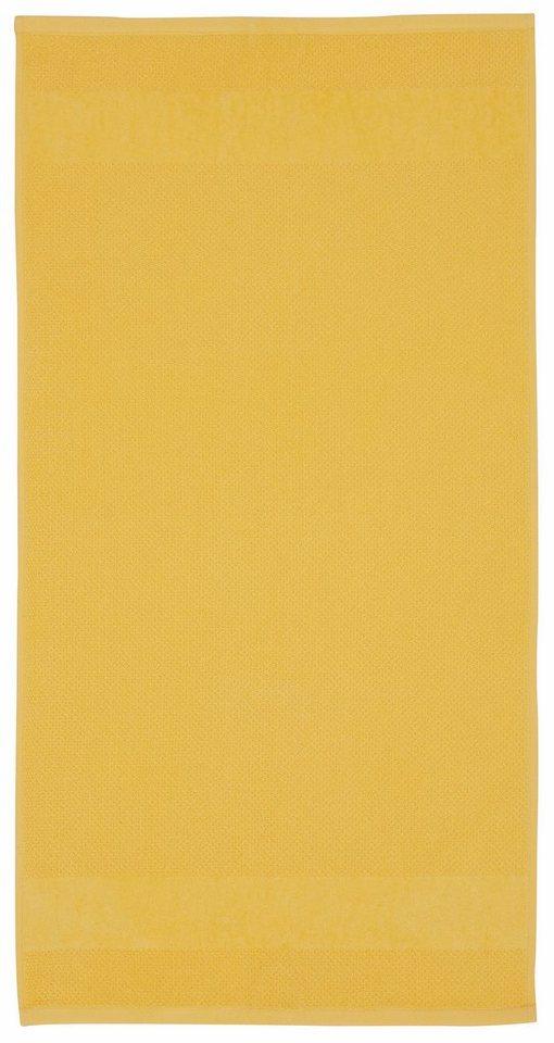 Badetücher, Ecorepublic Home, »Leonard«, mit feiner Struktur in gelb