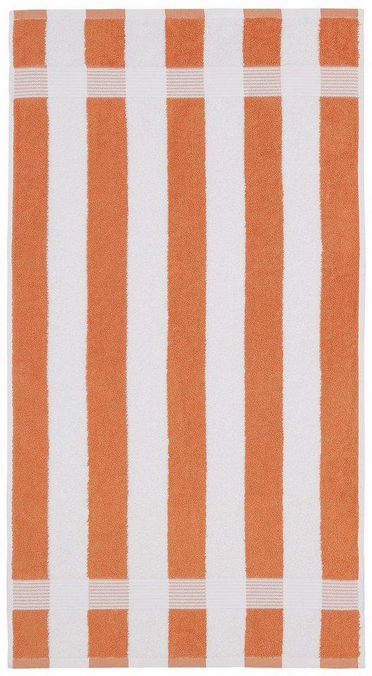 Handtücher, my home, »Sina Streifen«, mit breiten Streifen in orange-weiss