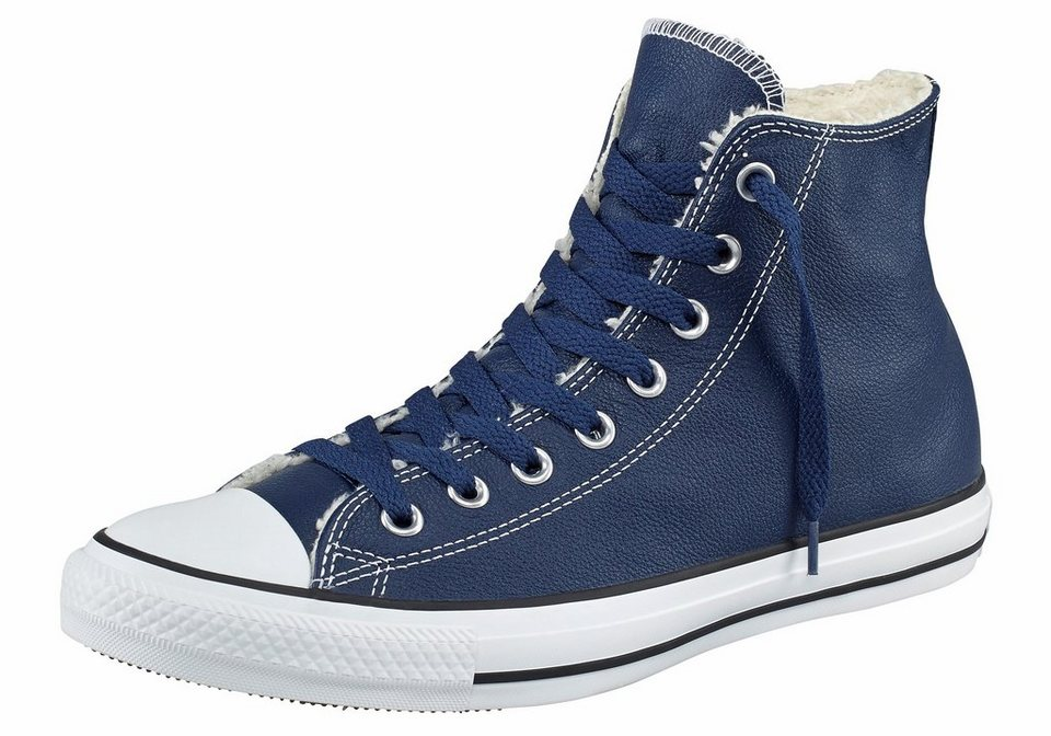 Converse All Star CTAS Leather Shearling Sneaker in Blau
