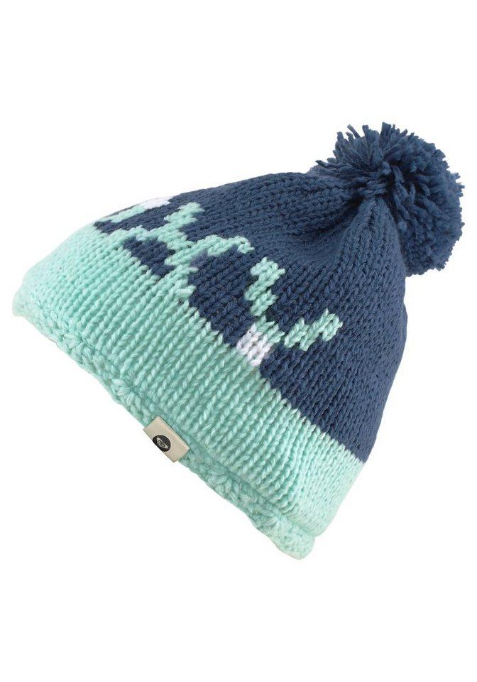 Roxy Bommelmütze mit Fleece gefüttert in blau-mint