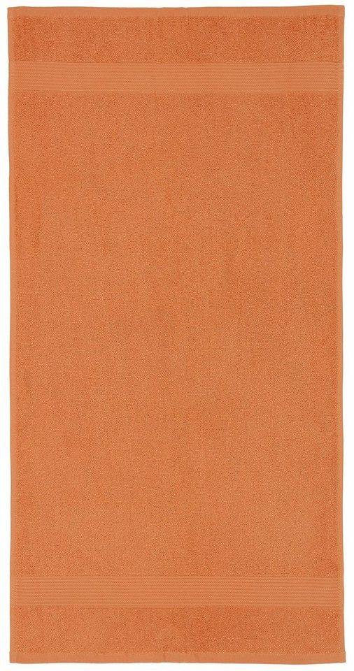 Gästehandtücher, my home, »Sina«, mit fein gemusterter Bordüre in orange