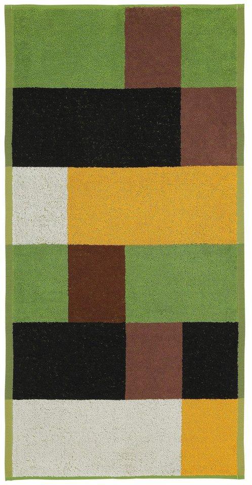 Handtücher, Ecorepublic Home, »Sheldon«, mit großem Muster in braun-grün