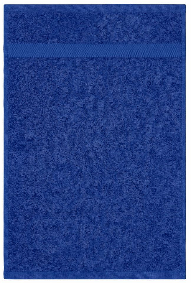 Gästehandtücher, my home, »Bernadette«, mit dezenter Bordüre in blau