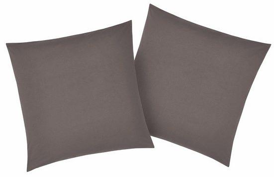 Kissenbezüge »Luisa«, my home (2 Stück), mit leichtem Glanzeffekt