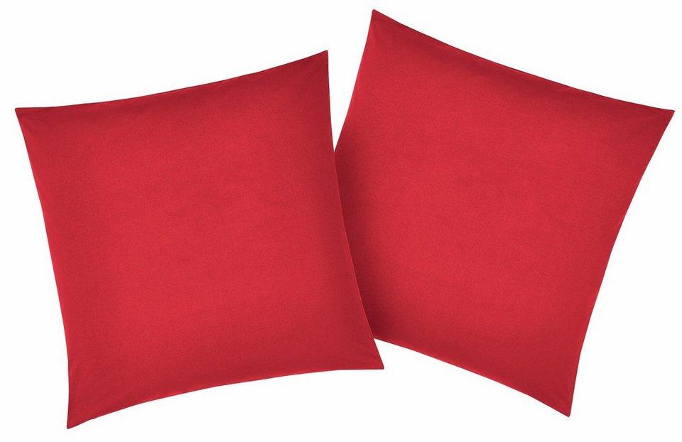Kissenbezug, My Home, »Luisa«, mit leichtem Glanzeffekt in rot