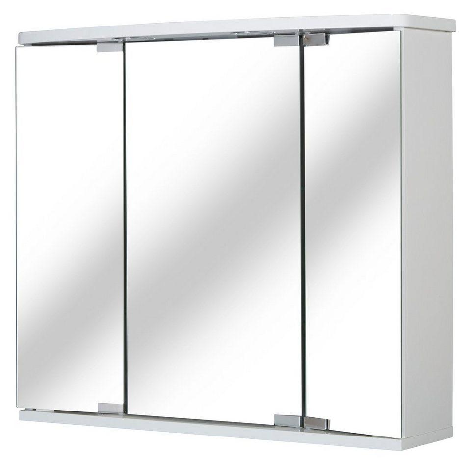 Spiegelschrank »Funa LED« Breite 68 cm, mit LED-Beleuchtung in weiß