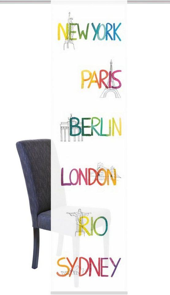 Schiebegardine, Home Wohnideen, »SYDNEY«, mit Klettband (1 Stück mit Zubehör) in multicolor