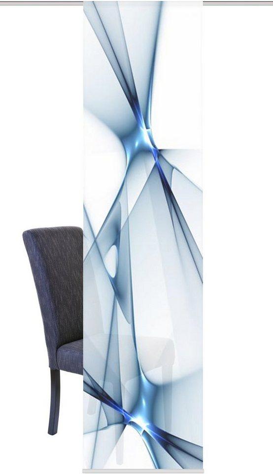 Schiebegardine, Home Wohnideen, »FRANKLIN« (1 Stück mit Zubehör) in blau