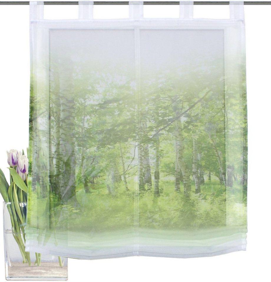 Raffrollo, Home Wohnideen, »NEWCASTLE«, mit Schlaufen in grün