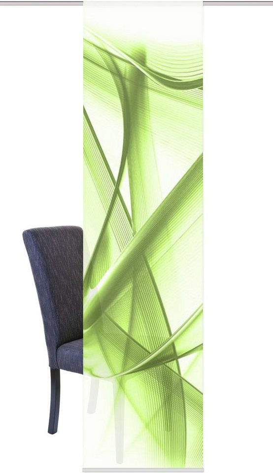 Schiebegardine, Home Wohnideen, »YUKON«, mit Klettband (1 Stück mit Zubehör) in grün