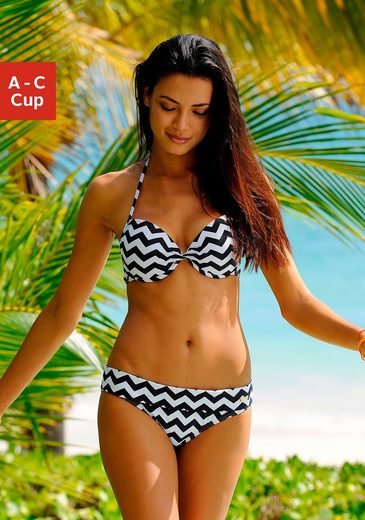 LASCANA Push-Up-Bikini-Top »Grace«, im modernen Design