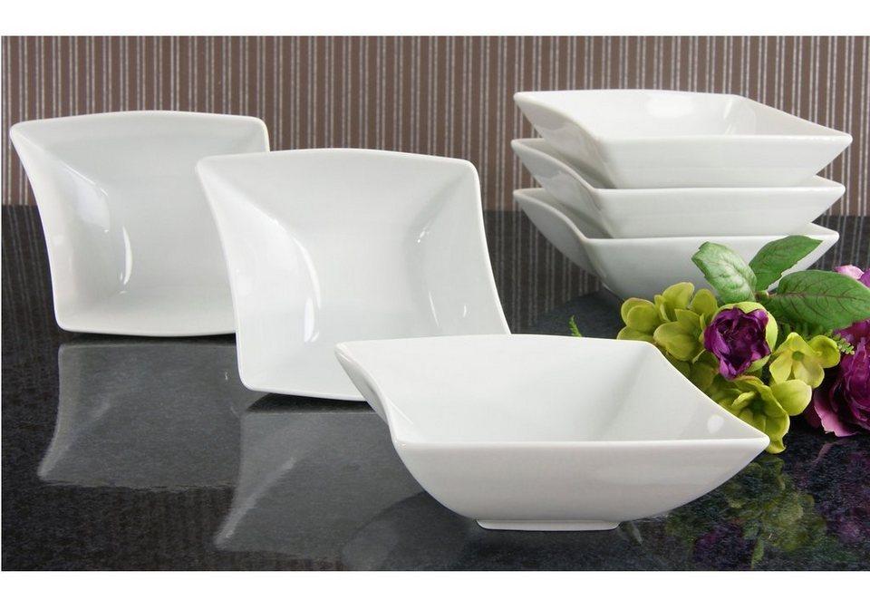 Müslischalen Porzellan, »Wing« (6er Set) in weiß