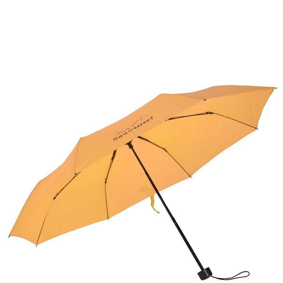 Happy Rain Super Mini Taschenschirm 25 cm in gelb