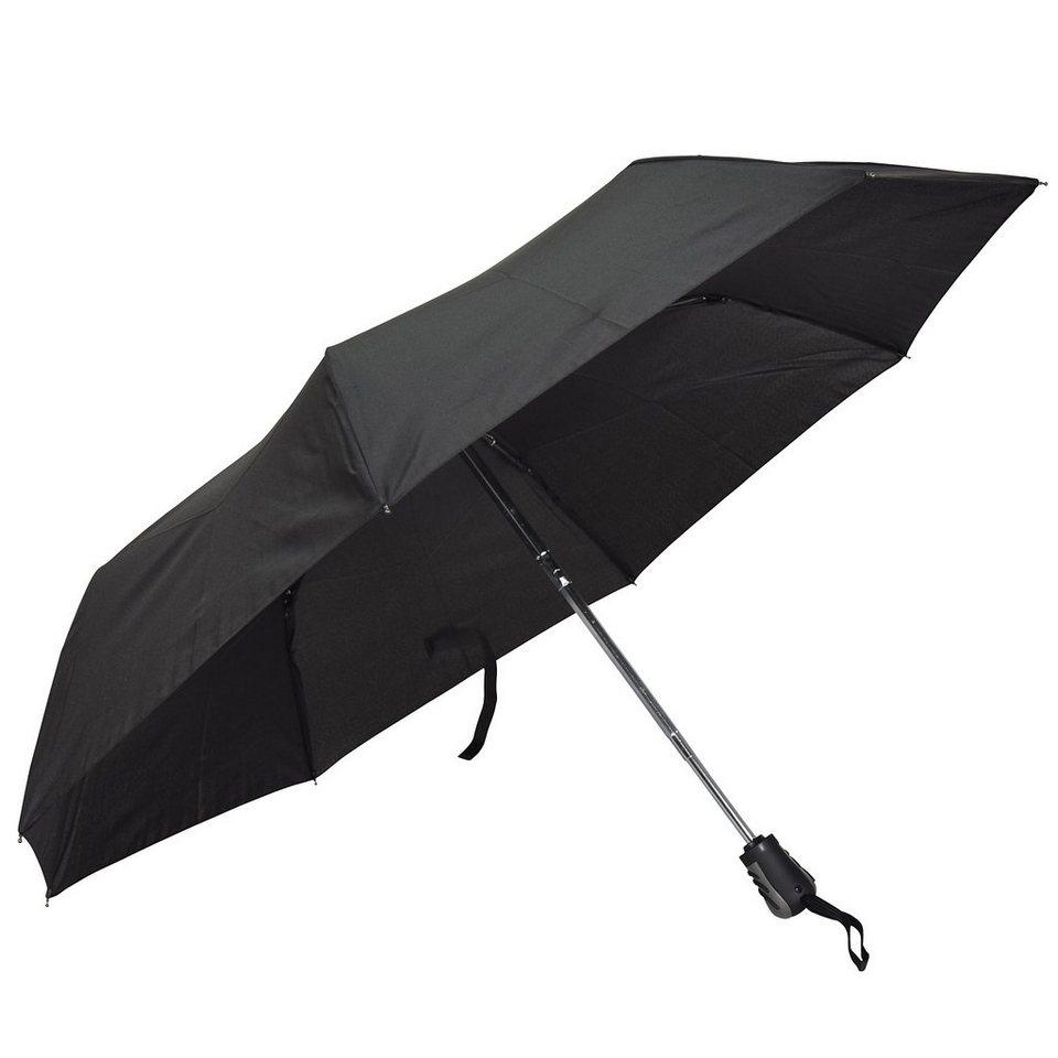 Happy Rain Mini AC Taschenschirm 28 cm in schwarz