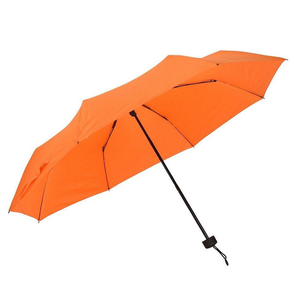 Happy Rain Flash Mini Taschenschirm 25 cm in orange