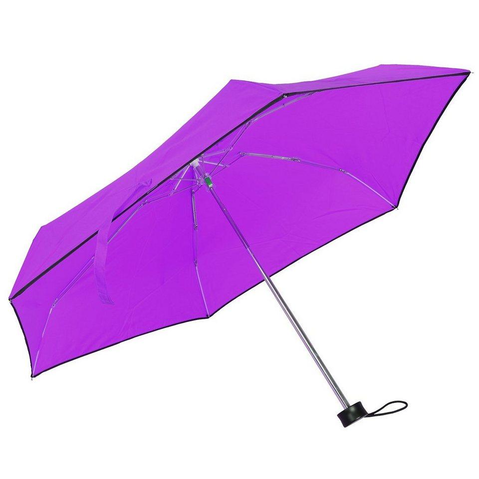 Happy Rain Ultra Mini Flash Taschenschirm 15 cm in lila