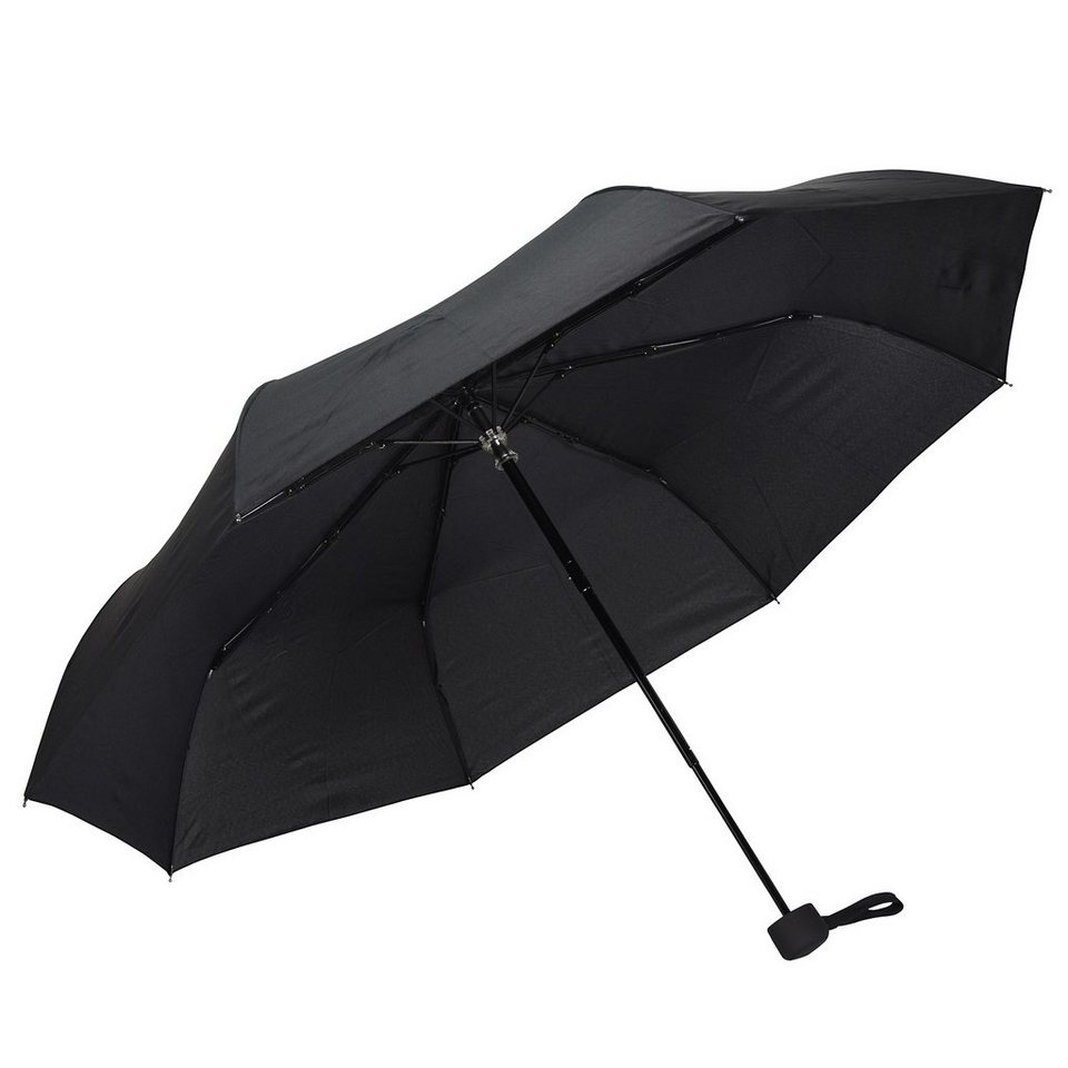 Happy Rain Fiber-MiniTec Taschenschirm 30 cm in schwarz