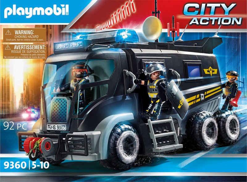 Playmobil® Konstruktions-Spielset »SEK-Truck mit Licht und Sound (9360), City Action«, (92 St), Made in Germany