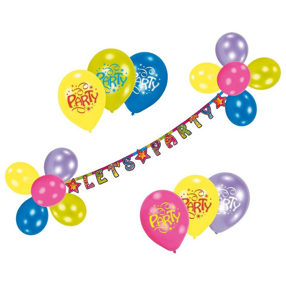 Riethmüller Luftballon-Deko-Set Let's Party