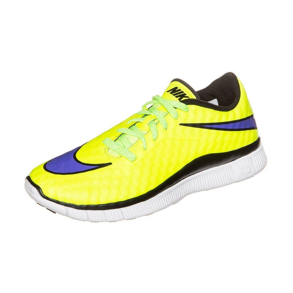 NIKE Free Hypervenom Laufschuh Kinder in gelb / lila / weiß