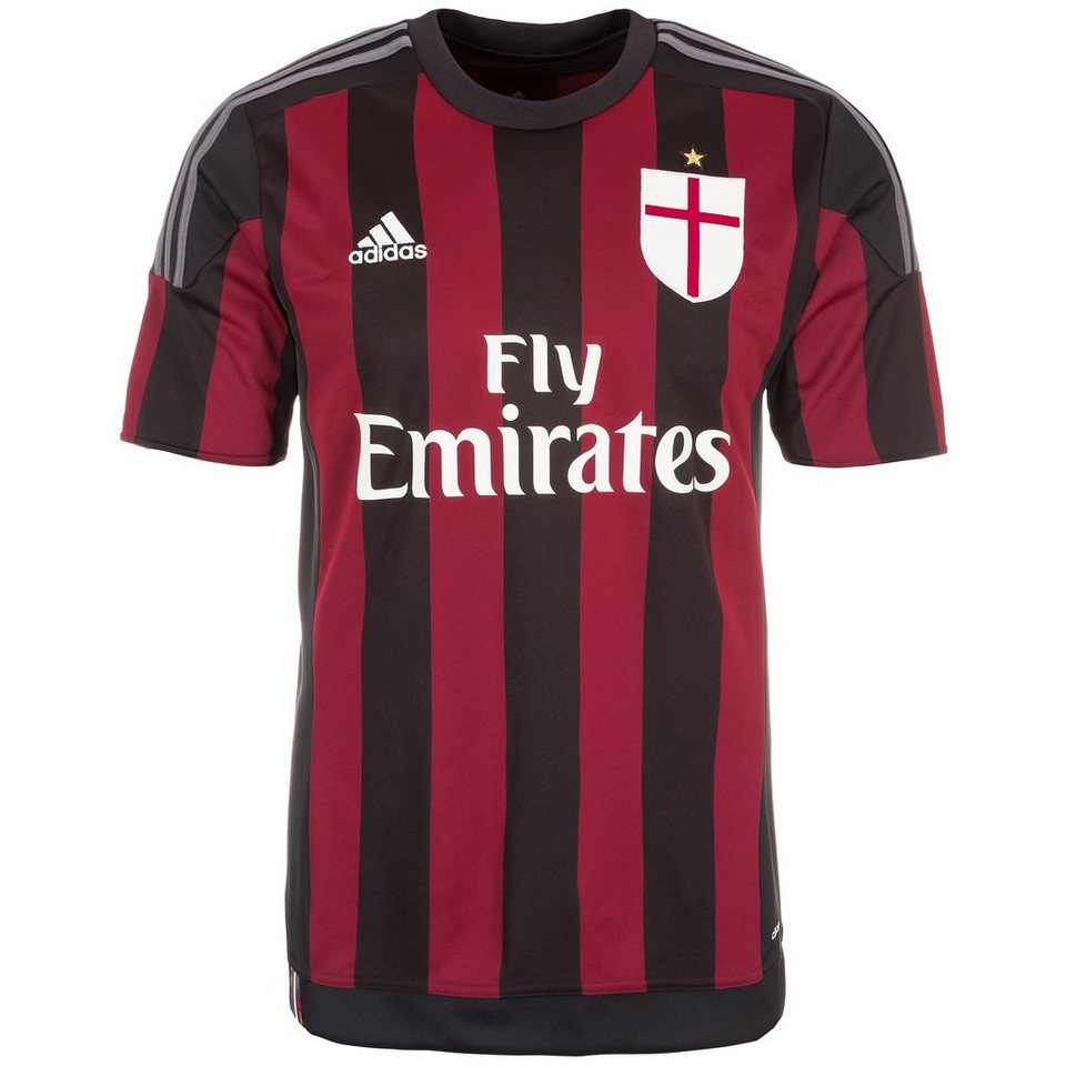 adidas Performance AC Mailand Trikot Home 2015/2016 Herren in schwarz / rot