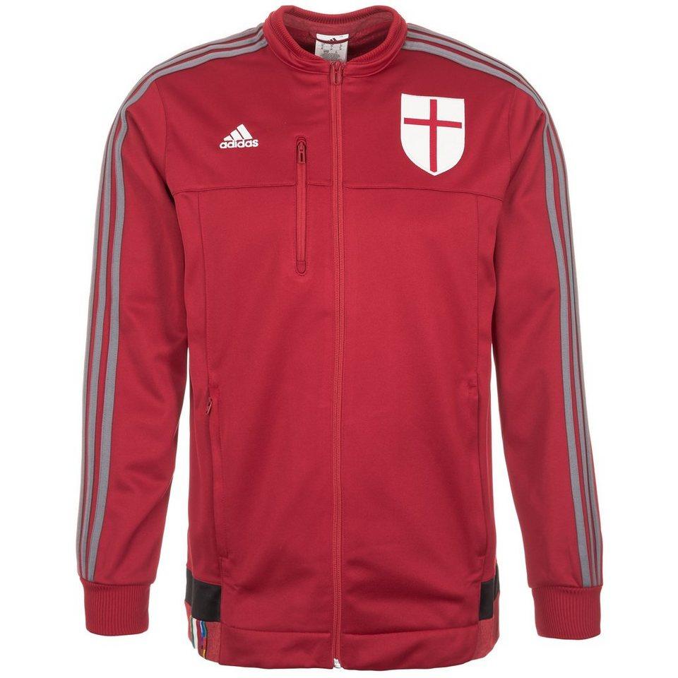 adidas Performance AC Mailand Anthem Jacke Herren in rot / grau / weiß