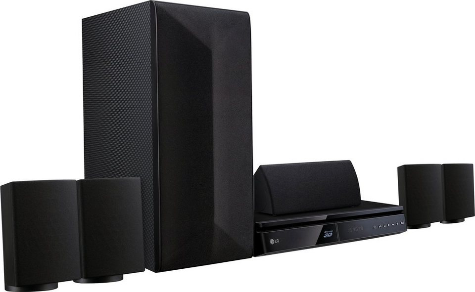 LG LHA725 5.1 Heimkinosystem (3D Blu-ray Player, 1.000 W, Bluetooth, Spotify) in schwarz
