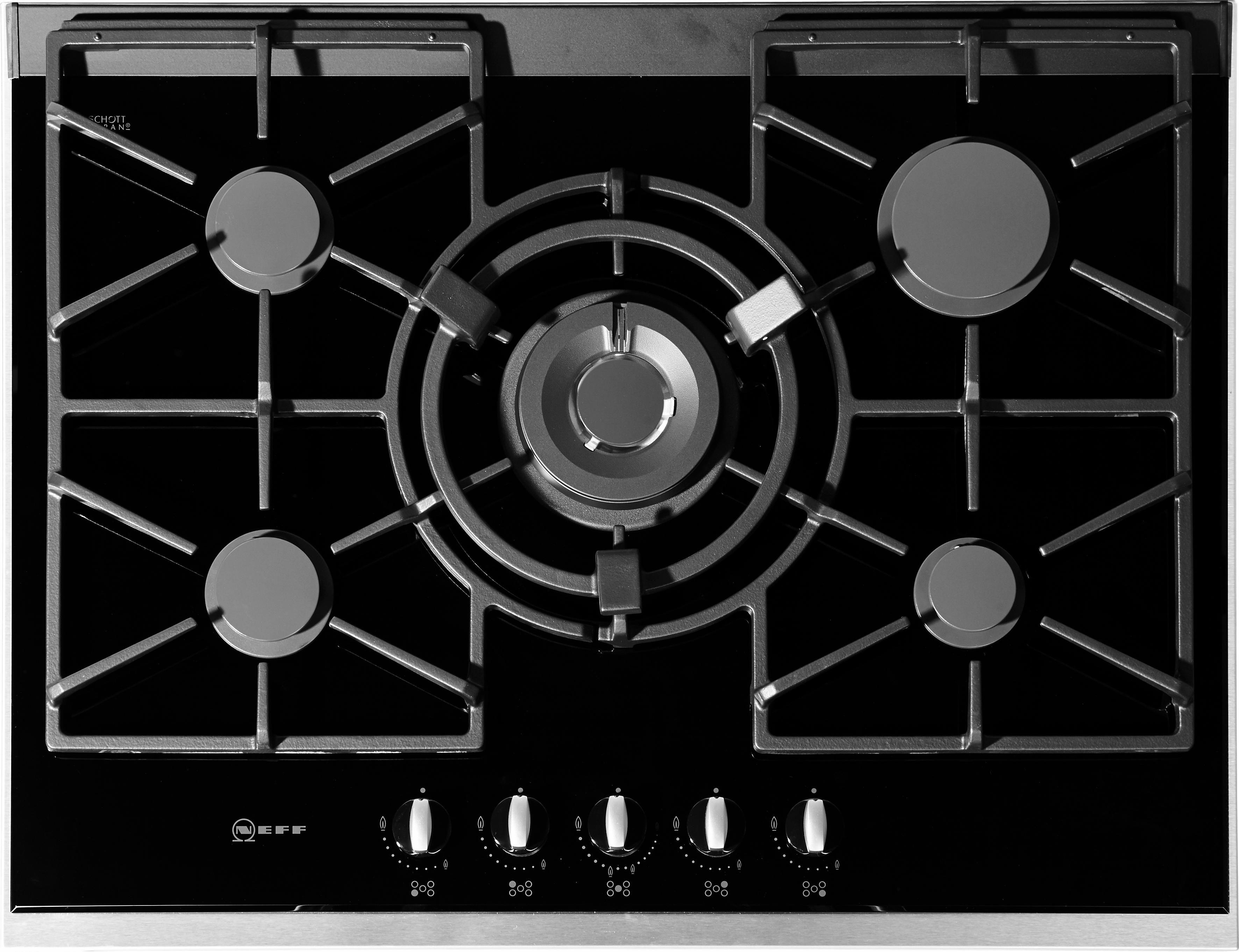 Neff Autarkes Gas-Glaskeramik-Kochfeld TS 6776 N / T67S76N1, mit integr. Kochstellenreglern