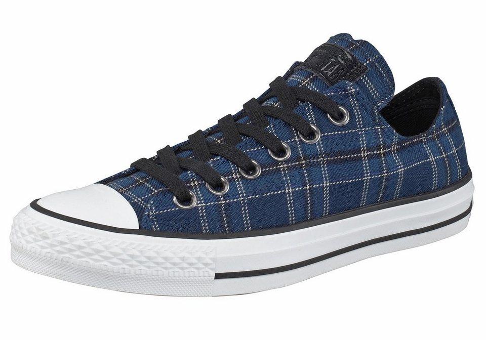 Converse All Star CTAS Plaid Ox Sneaker in Blau-Schwarz