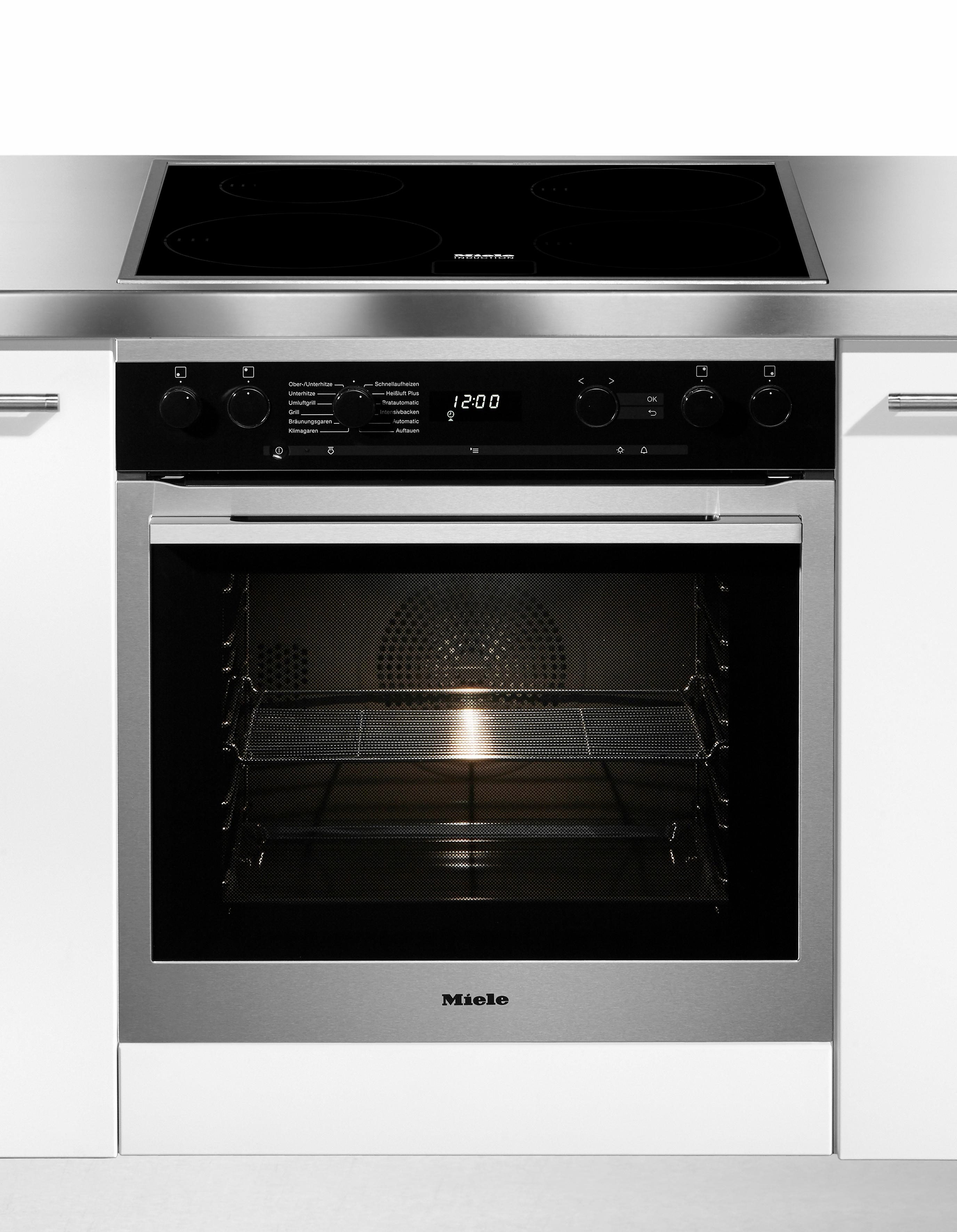 Miele Induktions Herd-Set H 6167 E edst + KM 6080, 7-Segment LC-Display