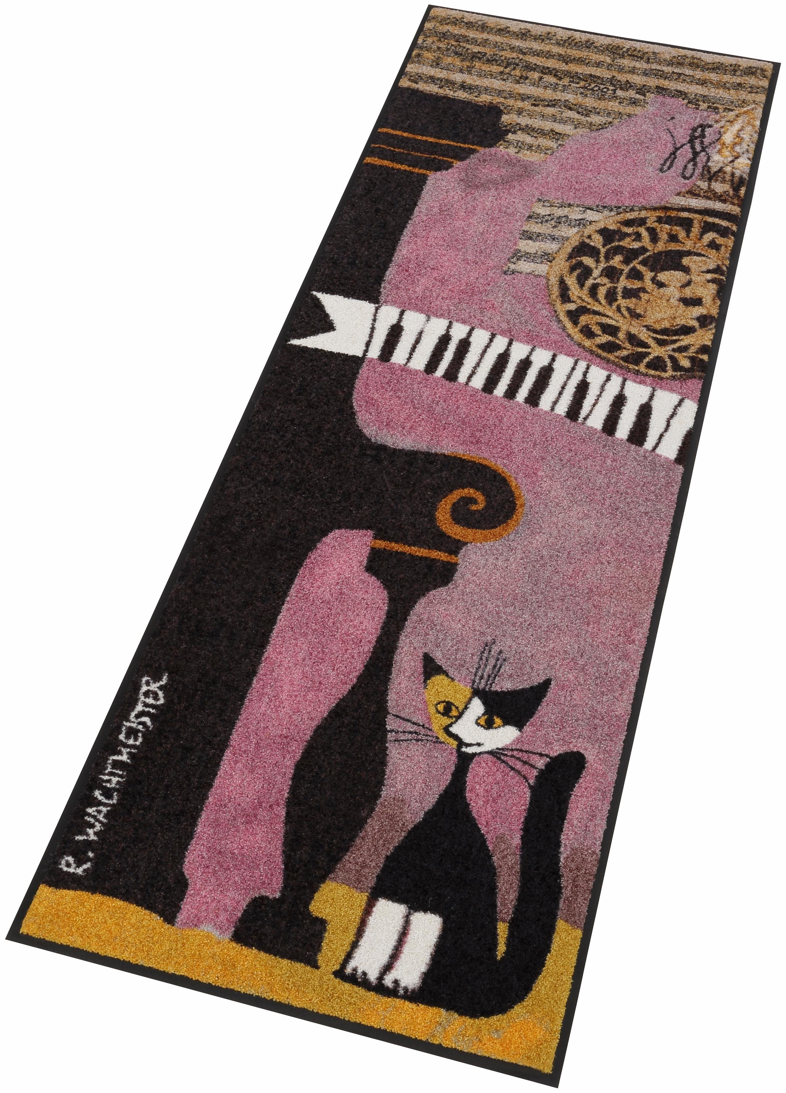 Läufer, Rosina wachtmeister, »Pianoforte«, waschbar, In- und Outdoor, mit Katzenmotiv