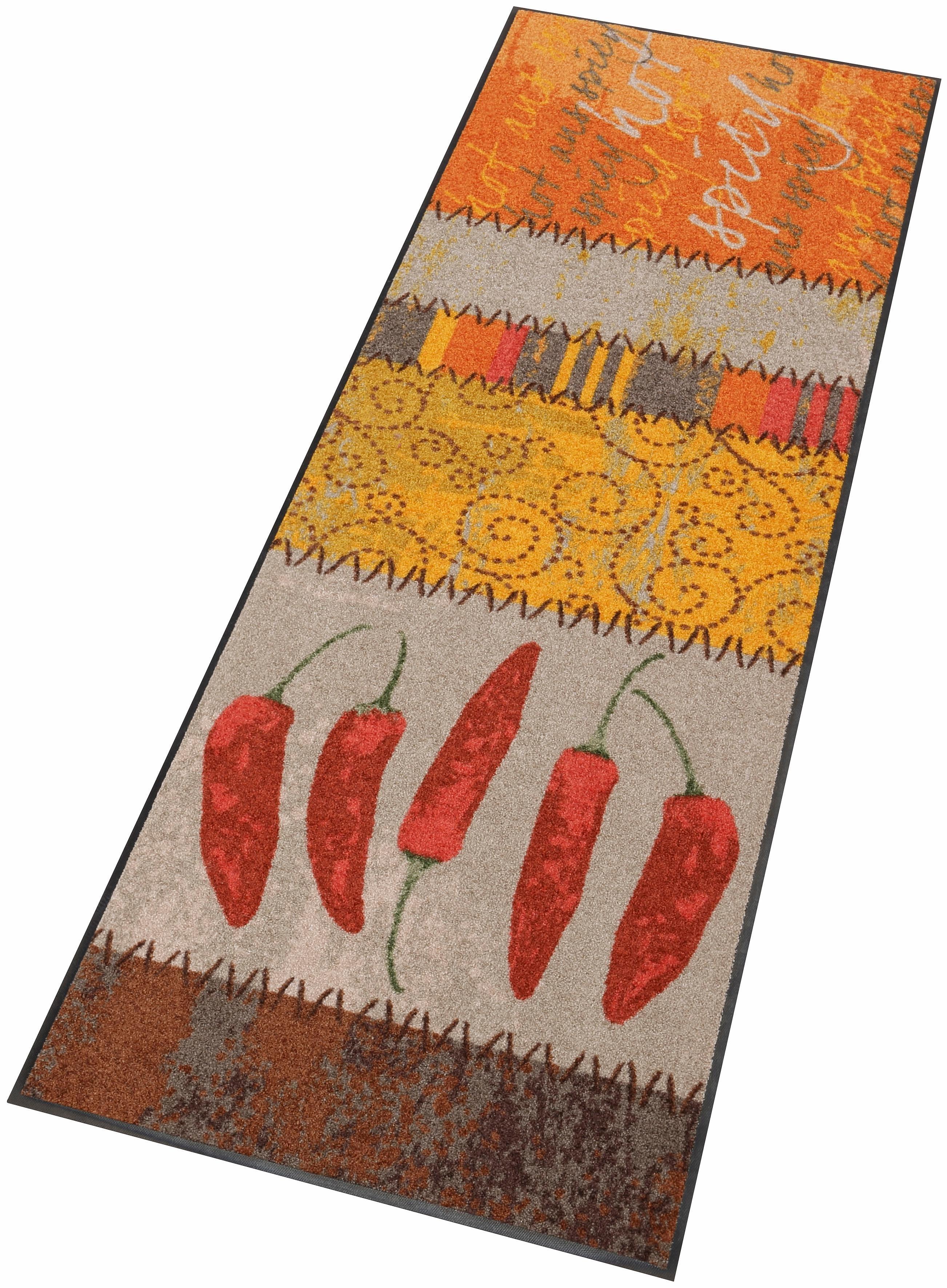 Küchenläufer »Chili«, Salonloewe, rechteckig, Höhe 7 mm, In- und Outdoor geeignet, waschbar