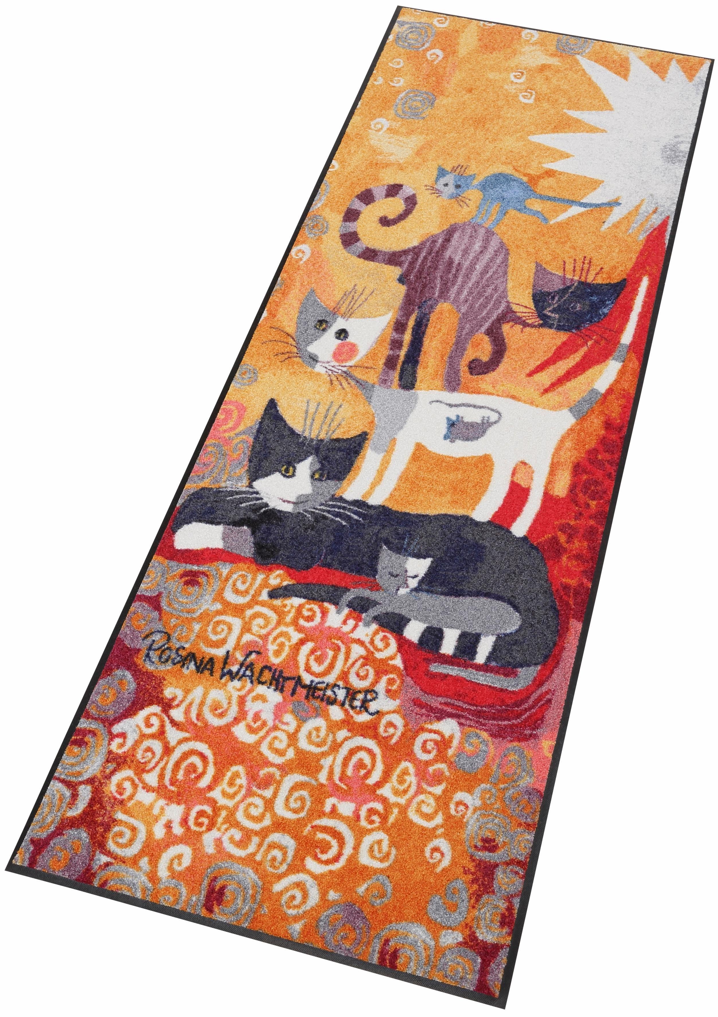 Läufer »Katzenturm«, Rosina Wachtmeister, rechteckig, Höhe 70 mm, waschbar, In- und Outdoor, mit Katzenmotiv
