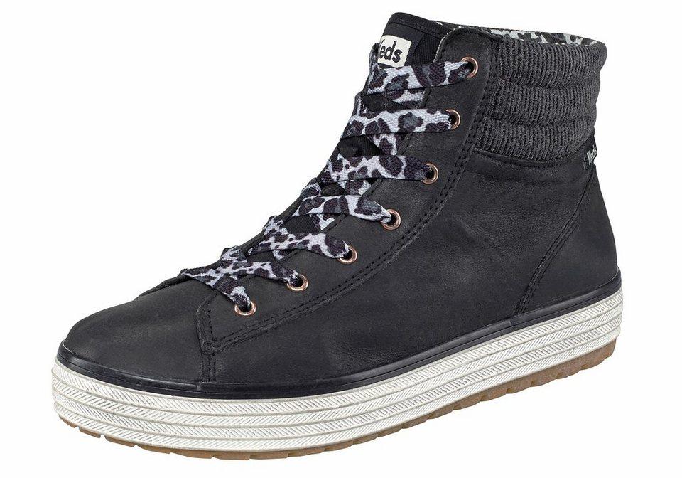 Keds Hi Rise Vintage Sneaker in Schwarz