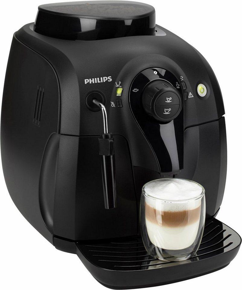 Philips Kaffeevollautomat HD8651/01 Xsmall, mit klassischem Milchaufschäumer, Schwarz in schwarz