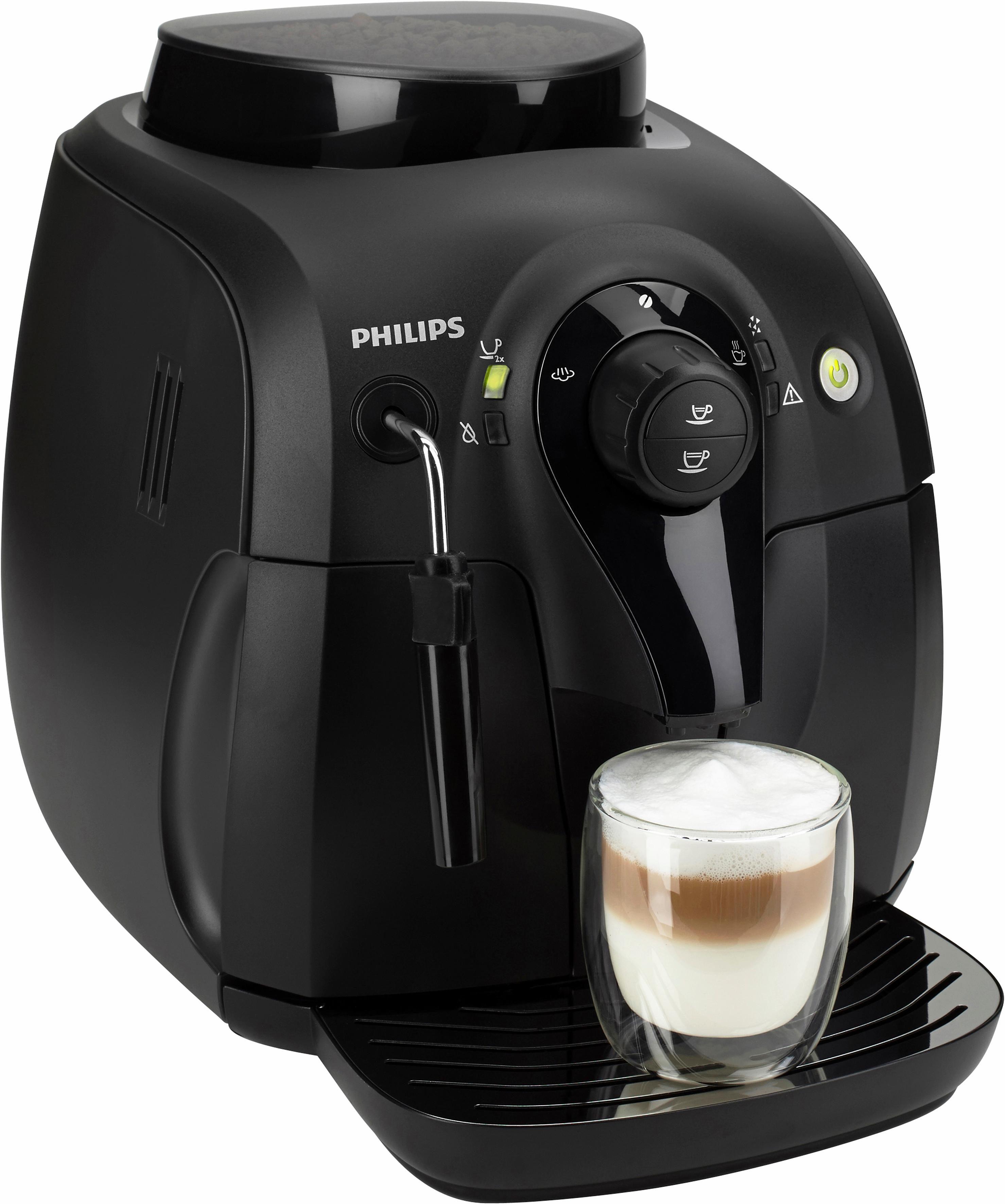 Philips Kaffeevollautomat HD8651/01 Xsmall, mit klassischem Milchaufschäumer, Schwarz