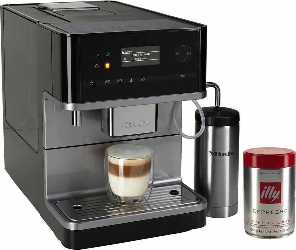 Miele Kaffeevollautomat CM 6310, inklusive Milchtank in obsidianschwarz