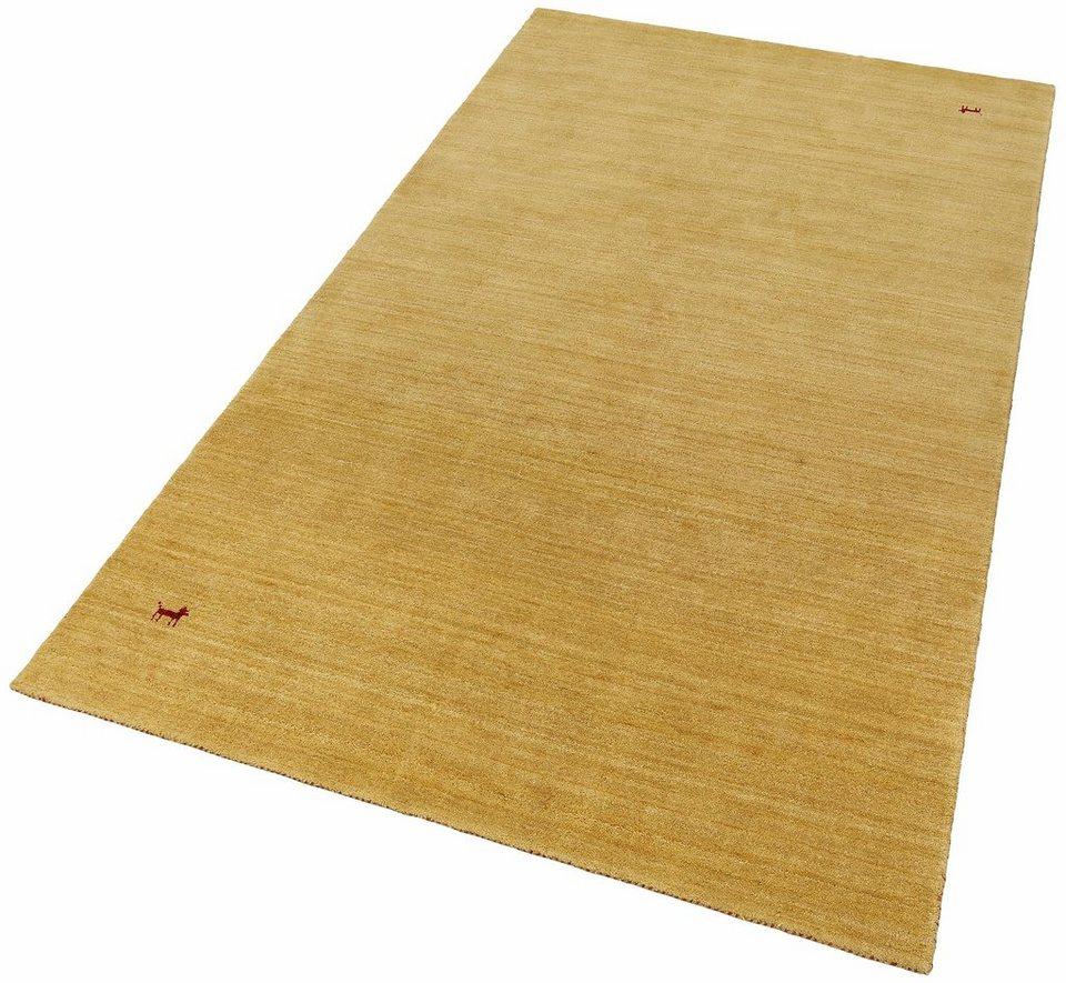 Orient-Teppich, Parwis, »Gabbeh Supreme«, 4,5kg/m², handgearbeitet, Schurwolle, Unikat in gold