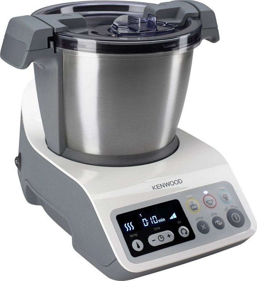 Kenwood Kompakt-Küchenmaschine mit Kochfunktion »kCook CCC200WH«, 800 Watt Heizelement, 1,5 Liter in weiß/grau