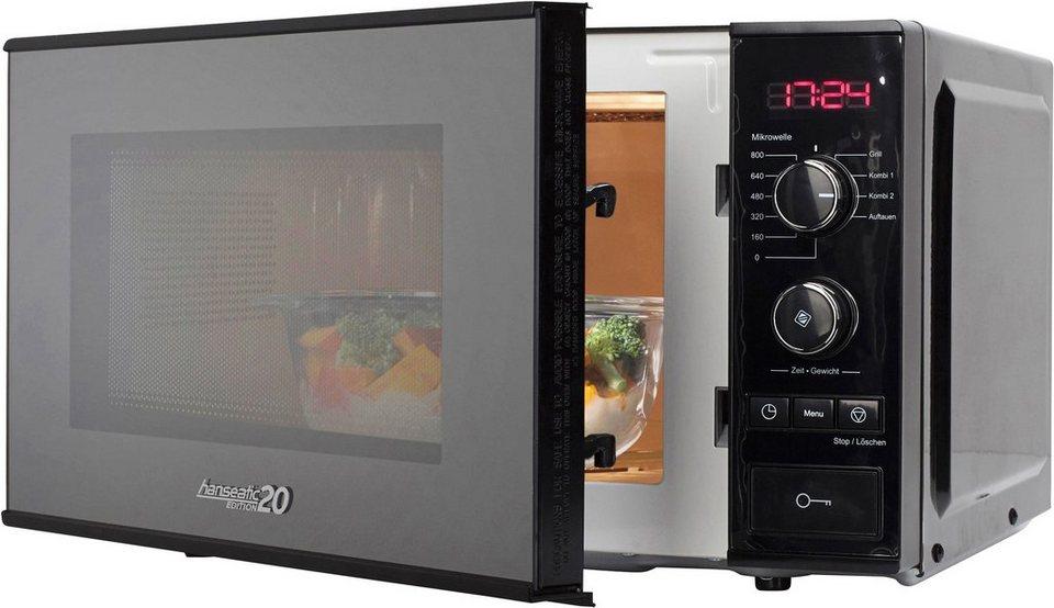 hanseatic edition 20 mikrowelle 20 liter garraum 800 w mit grill online kaufen otto. Black Bedroom Furniture Sets. Home Design Ideas