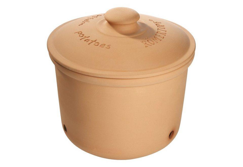 Römertopf® Vorratsdose Kartoffeln aus Ton in braun
