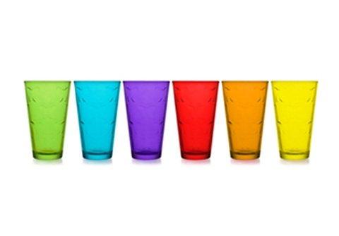 Mäser Longdrinkbecher, Glas (6er Set) in bunt