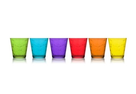 Mäser Trinkbecher, Glas (6er Set) in bunt