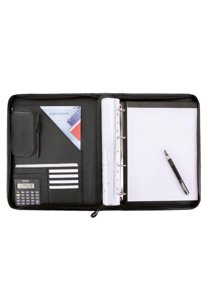Alassio® Ringbuchmappe mit Reißverschluss DIN A4, »Reggio« in schwarz