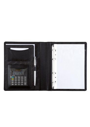 1« Taschenrechner Aus Alassio® A5 Mit Nappaleder Ringbuchmappe »benaco fw1qC