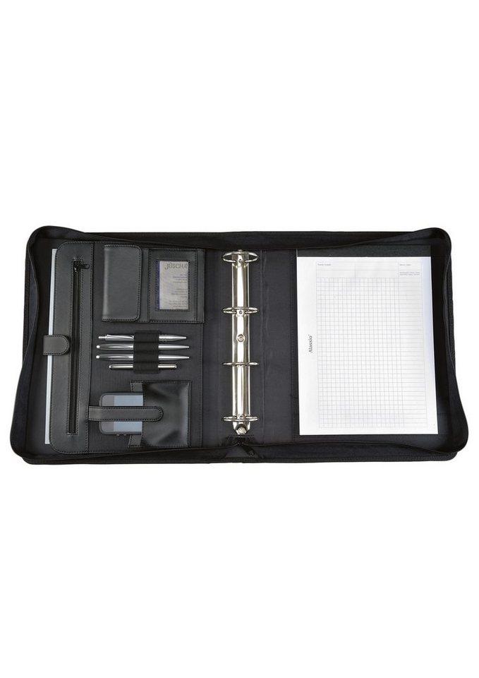 Alassio® Tagungsmappe mit Reißverschluss DIN A4, »Aprezzo« in schwarz