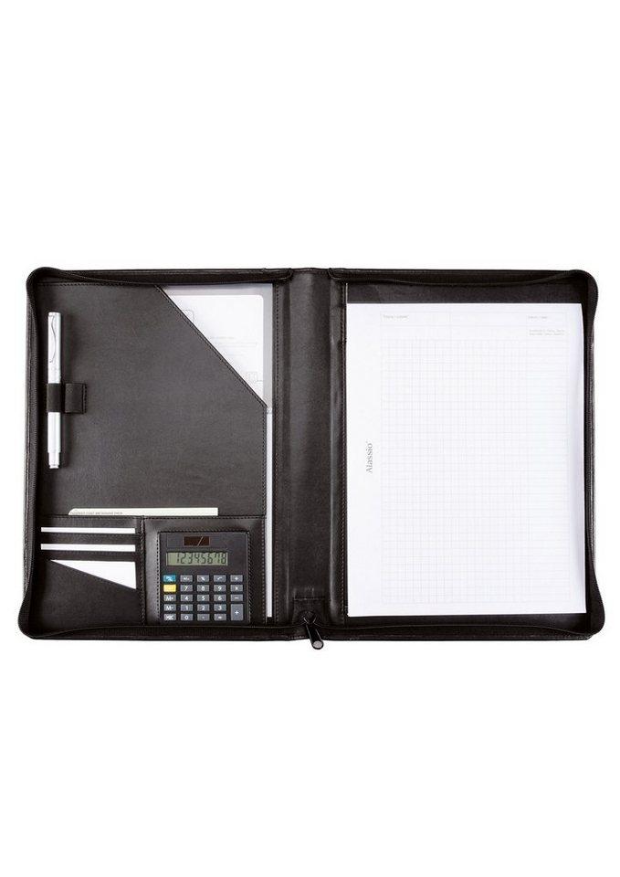Alassio® Schreibmappe mit Reißverschluss A4, »Catana« in schwarz