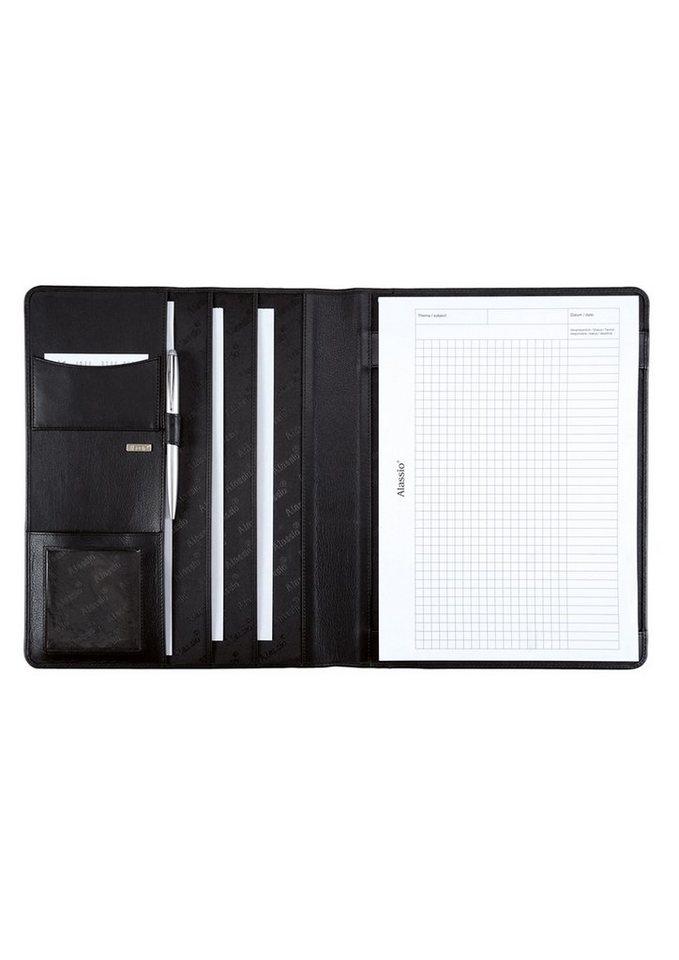 Alassio® Schreibmappe aus Nappaleder A4, »Cremona« in schwarz