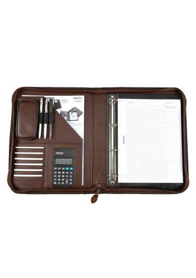 Alassio® Ringbuchmappe »DIN A4, Viterbo«, mit Taschenrechner